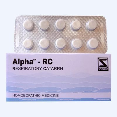 Schwabe Alpha RC Tablets, Homeopathic Remedy for Respiratory Catarrh